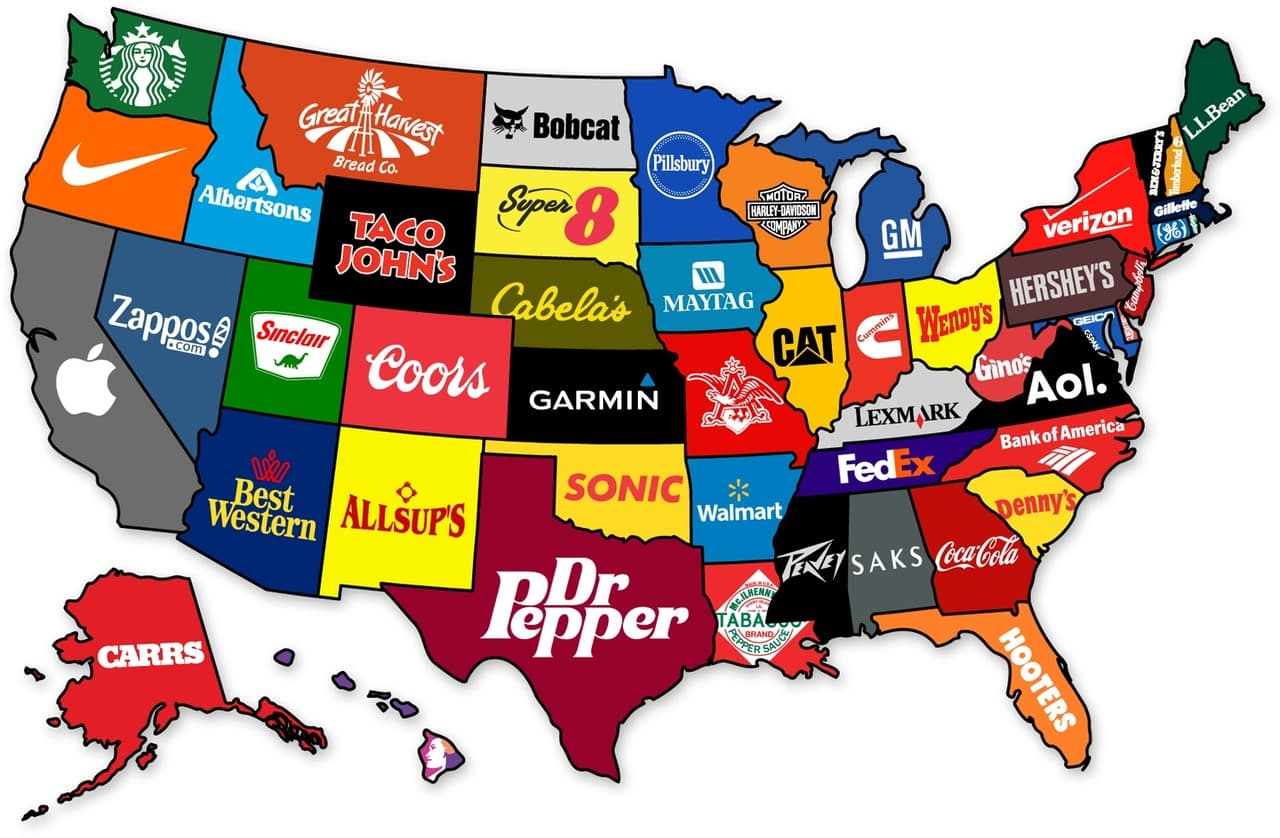 Comment s'appelle ces marques américaines à travers la planète ?
