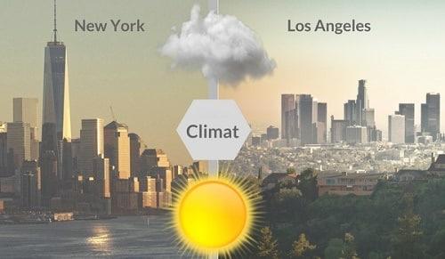 NY vs LA climat