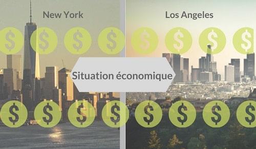 NY vs LA situation économique