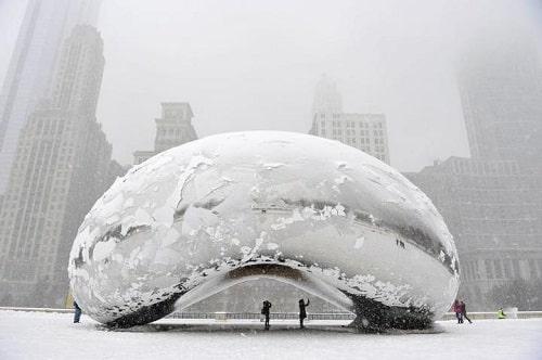 Chicago sous la neige